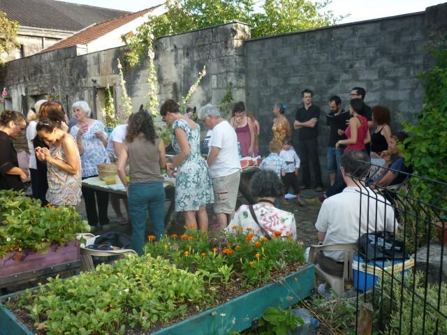 auberge espagnole au jardin - juin 2015
