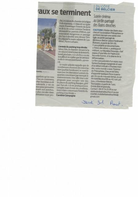 article sudouest soirée doc03092017